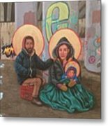 Holy Family of the Streets  Metal Print