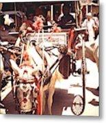 Horse Cart, India Metal Print
