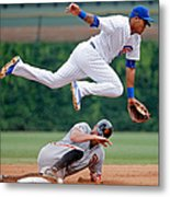 Hunter Pence and Addison Russell Metal Print
