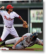 Hunter Pence and Freddy Galvis Metal Print