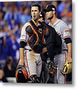 Hunter Strickland and Buster Posey Metal Print