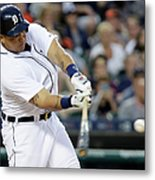 Ian Kinsler, Miguel Cabrera, And Anthony Gose Metal Print