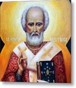 icon of St Nicholas the Wonderworker Metal Print