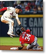 Jace Peterson And Bryce Harper Metal Print