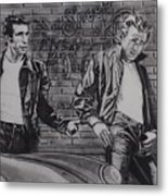 James Dean Meets The Fonz Metal Print
