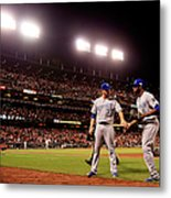 James Shields And Lorenzo Cain Metal Print