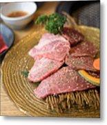 Japanese Wagyu  Beef Metal Print
