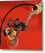 Javale Mcgee, James Harden, and Lonzo Ball Metal Print