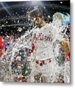 Jean Segura And Bryce Harper Metal Print