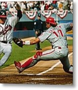 Jeff Blauser and Darren Daulton Metal Print