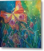 Jeweled Butterfly Fantasy Metal Print