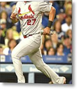 Jhonny Peralta and Jason Heyward Metal Print