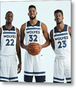 Jimmy Butler and Andrew Wiggins Metal Print