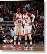 Jimmy Butler and Dwyane Wade Metal Print
