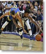 Jimmy Butler and Stephen Curry Metal Print
