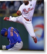Jimmy Rollins and Curtis Granderson Metal Print
