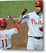 Jimmy Rollins and Jayson Werth Metal Print