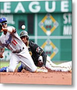 Jimmy Rollins and Starling Marte Metal Print