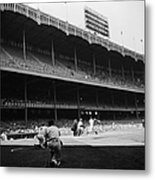 Joe Dimaggio and Yogi Berra Metal Print