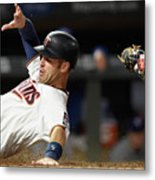 Joe Mauer and Russell Martin Metal Print