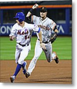 Joe Panik and Brandon Crawford Metal Print