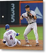 Joe Panik and Wilmer Flores Metal Print