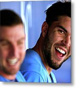 Johnny Giavotella and Eric Hosmer Metal Print
