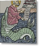 Jonah and The Sea Monster Metal Print