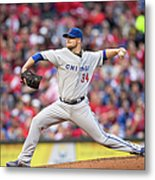 Josh Harrison and Jon Lester Metal Print