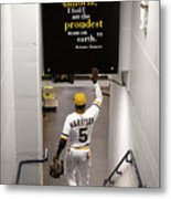 Josh Harrison and Roberto Clemente Metal Print