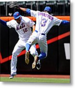 Juan Lagares and Curtis Granderson Metal Print