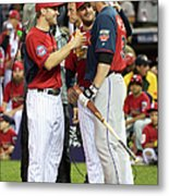 Justin Morneau, Glen Perkins, and Brian Dozier Metal Print