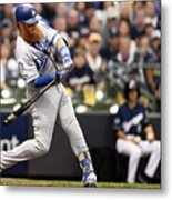 Justin Turner And Jeremy Jeffress Metal Print