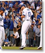 Justin Turner, Max Muncy, And Joc Pederson Metal Print