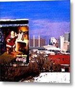 Kansas City Skyline at Christmas Metal Print