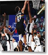 Kawhi Leonard and Jamal Murray Metal Print