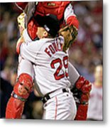 Keith Foulke and Jason Varitek Metal Print
