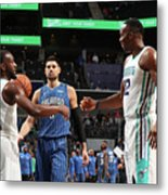 Kemba Walker and Dwight Howard Metal Print