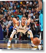 Kemba Walker and Stephen Curry Metal Print