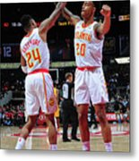 Kent Bazemore and John Collins Metal Print