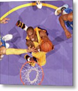 Kenyon Martin, Chauncey Billups, and Kobe Bryant Metal Print