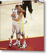 Kevin Durant and Klay Thompson Metal Print
