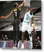 Kevin Durant and Terry Rozier Metal Print