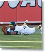 Khris Davis and George Springer Metal Print