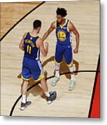 Klay Thompson and Jonas Jerebko Metal Print