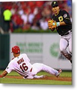 Kolten Wong and Jung Ho Kang Metal Print