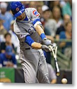 Kris Bryant and Jimmy Nelson Metal Print
