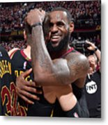 Kyle Korver and Lebron James Metal Print