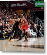 Kyle Lowry and George Hill Metal Print