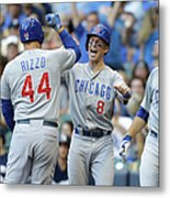 Kyle Schwarber, Anthony Rizzo, and Chris Coghlan Metal Print